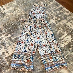 Gaucho floral jumpsuit